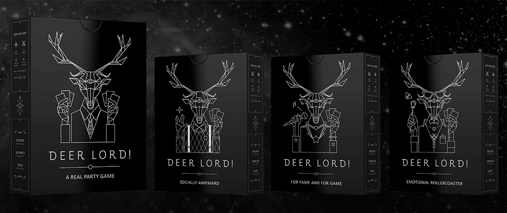 product line up of deer lord party game