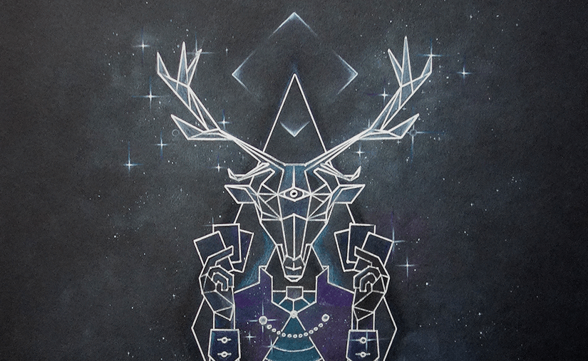 deer lord party card game original poster artwork banner