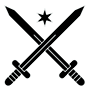 rules logo with two swords