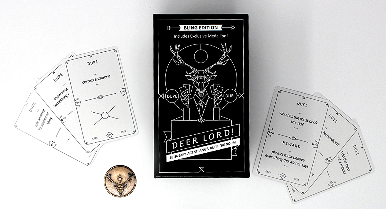 deer lord party game hobby retail bling edition medallion