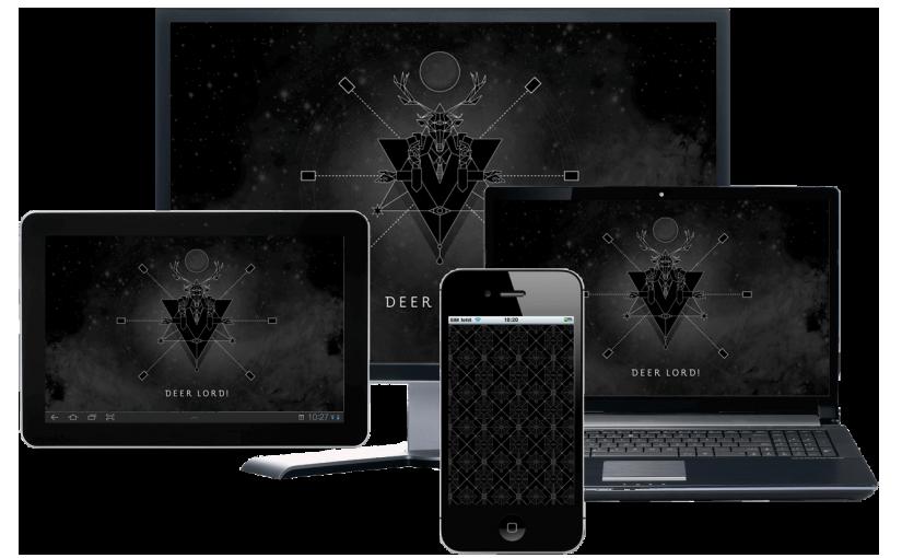 Achtergronden voor desktop tablet en smartphone