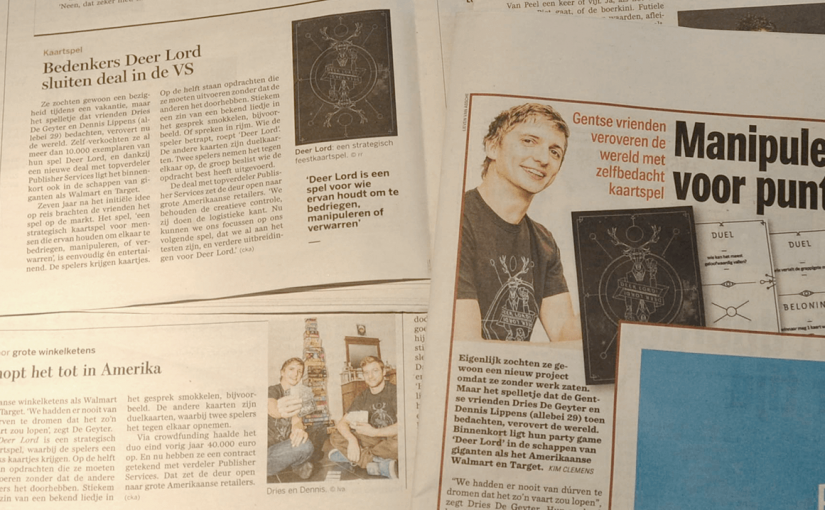 DEER LORD in de gazet!