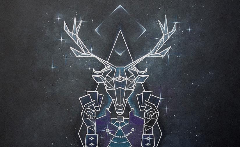 deer lord party card game original poster artwork banner